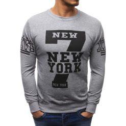 Bluzy męskie: Bluza męska z nadrukiem szara (bx1452)