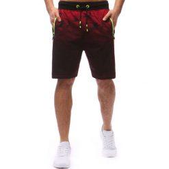 Spodenki i szorty męskie: Spodenki dresowe męskie czerwone (sx0567)