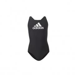 Kostium kąpielowy jednoczęściowy Dziecko adidas  Strój do pływania Badge of Sport. Czarne stroje jednoczęściowe dziewczęce Adidas. Za 79,95 zł.