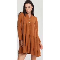 Sukienki: Jasnobrązowa Sukienka Gentle