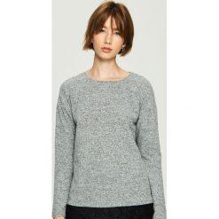 Sweter z koronką - Jasny szar. Szare swetry klasyczne damskie Sinsay, l, z koronki. Za 49,99 zł.