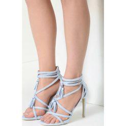 Niebieskie Sandały By Heart. Niebieskie sandały damskie vices, na wysokim obcasie. Za 69,99 zł.