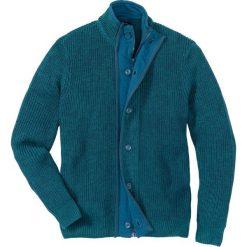 Sweter rozpinany Regular Fit bonprix niebieskozielono-kobaltowy melanż. Niebieskie kardigany męskie marki bonprix, l, melanż. Za 79,99 zł.