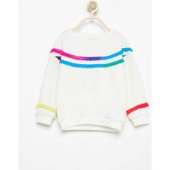 Bluza z pomponami - Kremowy. Białe bluzy dziewczęce rozpinane marki Reserved. Za 29,99 zł.