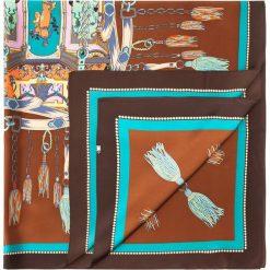 Chusta damska 84-7D-S31-X07. Brązowe chusty damskie marki Wittchen, z aplikacjami, z materiału. Za 249,00 zł.