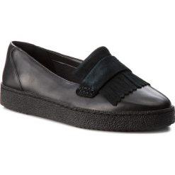 Półbuty CLARKS - Lillia Lottie 261308364  Black Combi Leather. Czarne półbuty damskie skórzane Clarks. W wyprzedaży za 199,00 zł.