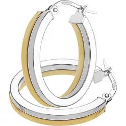 Złote kolczyki-kreole. Szare kolczyki damskie REVONI, złote. W wyprzedaży za 474,95 zł.
