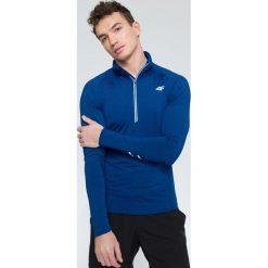 Bluzy męskie: Bluza treningowa męska BLMF205 – niebieski melanż – 4F