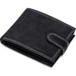 PORTFEL MĘSKI SKÓRZANY A087 - CZARNY. Czarne portfele męskie Ombre Clothing. Za 59,00 zł.