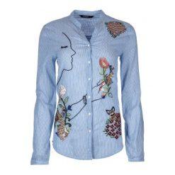 Desigual Koszula Damska S Niebieski. Niebieskie koszule damskie Desigual, s, z haftami, z bawełny. Za 400,00 zł.