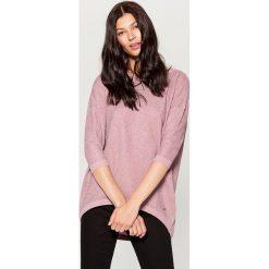 Sweter z metaliczną nitką - Różowy. Brązowe swetry klasyczne damskie marki Mohito, m. Za 99,99 zł.