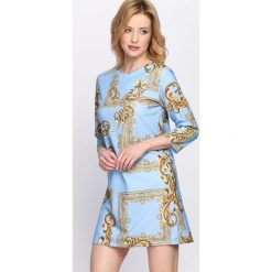 Jasnoniebieska Sukienka Yarabi. Niebieskie sukienki hiszpanki Born2be, na lato, s. Za 39,99 zł.