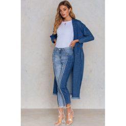 Boyfriendy damskie: Glamorous Jeansy z bocznymi wstawkami - Blue