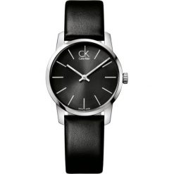 ZEGAREK CALVIN KLEIN CITY LADY K2G23107. Czarne zegarki damskie marki Calvin Klein, szklane. Za 739,00 zł.