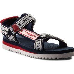 Sandały TOMMY JEANS - Mens Tommy Jeans Technical Sandal EM0EM00160 Midnight 403. Białe sandały męskie skórzane marki Tommy Jeans. Za 299,00 zł.