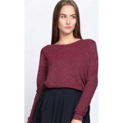Bordowy Sweter Feel Good Time. Czerwone swetry klasyczne damskie Born2be, xl, ze splotem, z okrągłym kołnierzem. Za 54,99 zł.