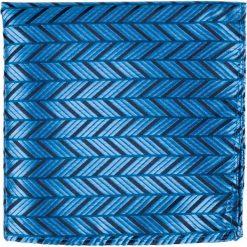Poszetka z mikrofibry PONS000569. Niebieskie poszetki męskie Giacomo Conti, w paski, z mikrofibry. Za 49,00 zł.