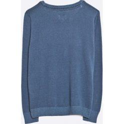 Pepe Jeans - Sweter dziecięcy 116-176 cm. Szare kardigany męskie Pepe Jeans, z bawełny, z okrągłym kołnierzem. W wyprzedaży za 159,90 zł.