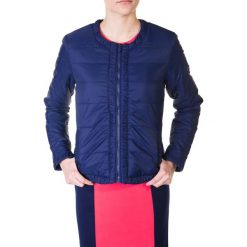 Granatowa pikowana kurtka bez kaptura  QUIOSQUE. Niebieskie kurtki damskie pikowane QUIOSQUE, bez kaptura. W wyprzedaży za 119,99 zł.
