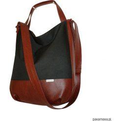 Shopper bag damskie: 5435 ankate, duża czarna torba na ramię, 2w1