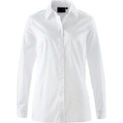 Długa bluzka ze stretchem bonprix biały. Białe bluzki asymetryczne bonprix, z długim rękawem. Za 74,99 zł.
