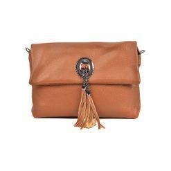 Torebka w kolorze koniaku - (S)32 x (W)24,4 x (G)13 cm. Brązowe torebki klasyczne damskie Bestsellers bags, w paski, z materiału. W wyprzedaży za 229,95 zł.
