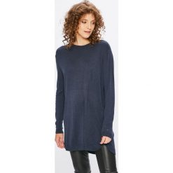 Tommy Jeans - Sweter. Szare swetry klasyczne damskie marki Tommy Jeans, l, z dzianiny, z okrągłym kołnierzem. W wyprzedaży za 319,90 zł.