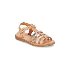 Sandały Dziecko  Babybotte  YLONA. Czerwone sandały dziewczęce marki Born2be, z materiału, z otwartym noskiem, na zamek. Za 195,30 zł.