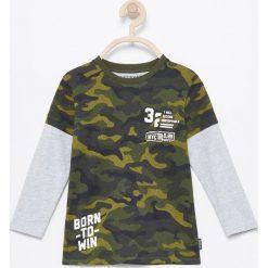 Odzież chłopięca: Koszulka z efektem dwóch warstw – Zielony