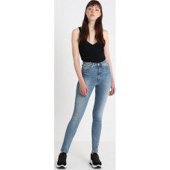 Calvin Klein Jeans CKJ 010 HIGH RISE SKINNY  Jeans Skinny Fit potrero. Niebieskie jeansy damskie relaxed fit Calvin Klein Jeans, z bawełny. Za 449,00 zł.