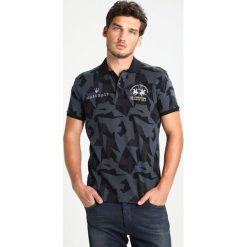 Koszulki polo: La Martina MAN POLO JAQUARD SLIM FIT Koszulka polo black/castlerock