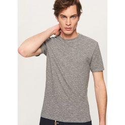 Melanżowy t-shirt - Szary. Szare t-shirty męskie marki Reserved, l. Za 29,99 zł.