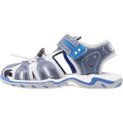 STUPS Sandały trekkingowe blue. Niebieskie sandały męskie skórzane STUPS, z otwartym noskiem. W wyprzedaży za 132,30 zł.