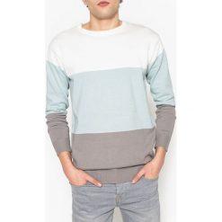 Swetry męskie: Sweter w paski z okrągłym dekoltem z cienkiej dzianiny