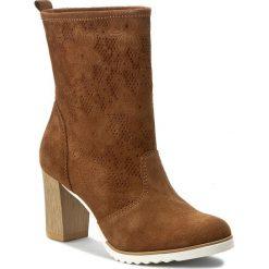 Botki SERGIO BARDI - Olivia FS127231317DP 837. Brązowe buty zimowe damskie Sergio Bardi, z materiału, na obcasie. W wyprzedaży za 169,00 zł.