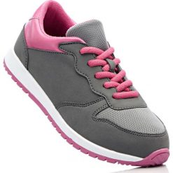 Buty sportowe bonprix antracytowo-różowy. Czarne buty sportowe chłopięce marki bonprix, na sznurówki. Za 37,99 zł.