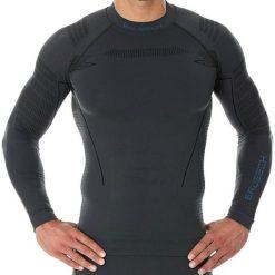 BLUZA BRUBECK THERMO LS13040-GRAFIT. Czarne bluzy męskie rozpinane marki Brubeck, na zimę, m, z dzianiny, z długim rękawem, długie. Za 129,99 zł.
