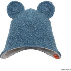 Czapka zimowa zakrywająca uszy - niebieski. Niebieskie czapeczki niemowlęce marki Pakamera, na zimę, z polaru. Za 79,00 zł.