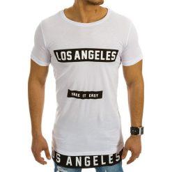T-shirty męskie z nadrukiem: T-shirt męski z nadrukiem biały (rx1990)