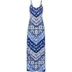 Długie sukienki: Sukienka bonprix niebiesko-kolorowy