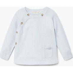 Mango Kids - Sweter dziecięcy Marine 62-74 cm. Szare swetry dziewczęce Mango Kids, z bawełny, z okrągłym kołnierzem. W wyprzedaży za 39,90 zł.
