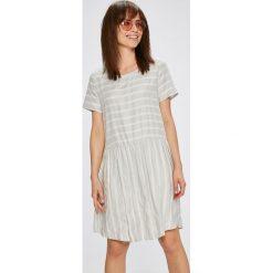 Broadway - Sukienka. Szare sukienki mini marki Broadway, na co dzień, s, z poliesteru, casualowe, z okrągłym kołnierzem, z krótkim rękawem. W wyprzedaży za 179,90 zł.