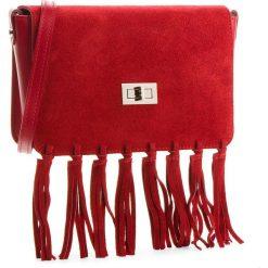 Torebka CREOLE - K10504  Bordo. Czerwone listonoszki damskie Creole, ze skóry, na ramię. W wyprzedaży za 189,00 zł.