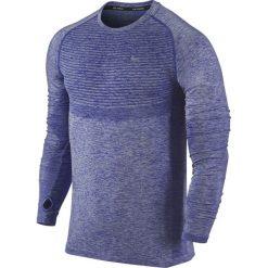 T-shirty męskie: koszulka do biegania męska NIKE DRI-FIT KNIT LONG SLEEVE / 717760-457 – NIKE DRI-FIT KNIT LONG SLEEVE