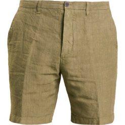 Bermudy męskie: 120% Lino Szorty military green