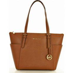 Luksusowa torebka kuferek  MICHAEL KORS brązowa. Brązowe kuferki damskie Michael Kors, ze skóry. Za 1199,00 zł.
