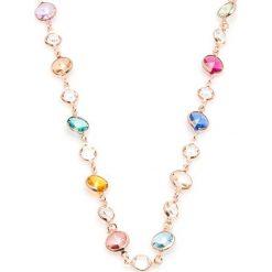 Naszyjniki damskie: Pozłacany naszyjnik z kryształami Swarovski – (D)48 cm