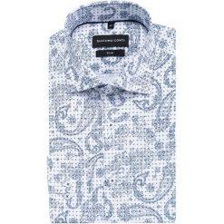 Koszula SIMONE slim KDWS000338. Szare koszule męskie na spinki marki S.Oliver, l, z bawełny, z włoskim kołnierzykiem, z długim rękawem. Za 149,00 zł.