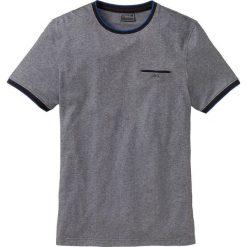 T-shirty męskie: T-shirt Regular Fit bonprix czarno-biały melanż