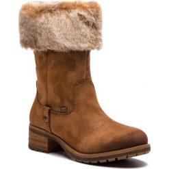 Kozaki RIEKER - 96854-24 Braun. Czarne buty zimowe damskie marki Rieker, z materiału. Za 329,00 zł.